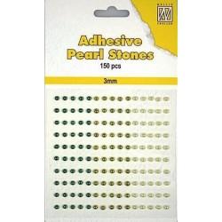 Nalepovací perličky 3mm - dozelena Nellie´s Choice