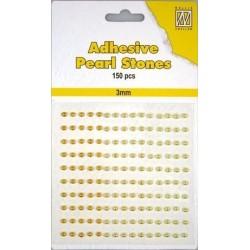 Samolepící perličky 3mm - žlutozlaté Nellie´s Choice