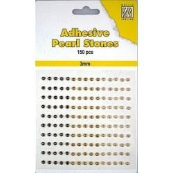 Nalepovací perličky 3mm - dohněda Nellie´s Choice