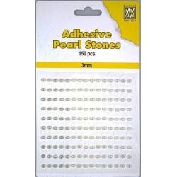 Samolepící perličky 3mm - bílokrémové Nellie´s Choice