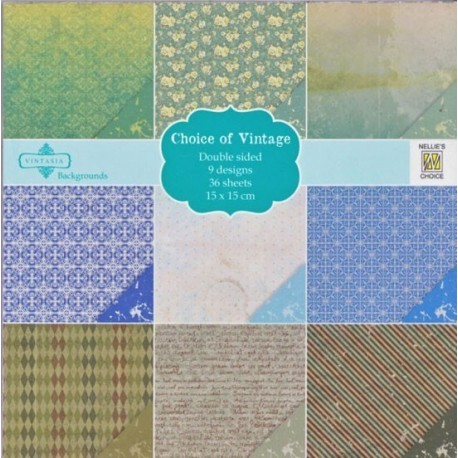 Sada papírů 15x15 Botanic Vintage Nellie´s Choice