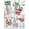 Rýžový papír A4 Up pops Christmas