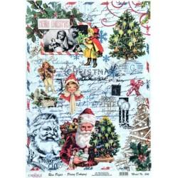 Rýžový papír A4 Merry Christmas