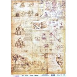 Rýžový papír A4 Staré nákresy