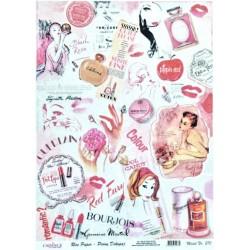Rýžový papír A4 Pink