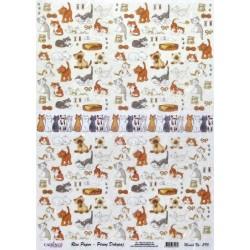 Rýžový papír A4 Kočičky