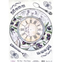 Rýžový papír A4 Menu, hodiny