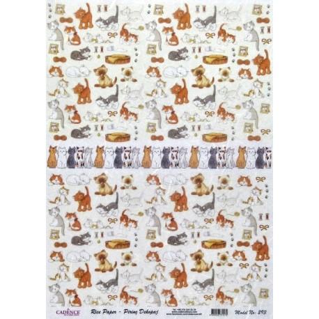 Rýžový papír A3 Kočičky