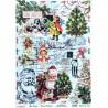 Rýžový papír A3 Merry Christmas