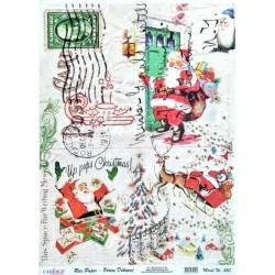 Rýžový papír A3 Up Pops Christmas