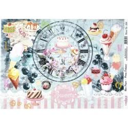 Rýžový papír A3 Sweets, hodiny