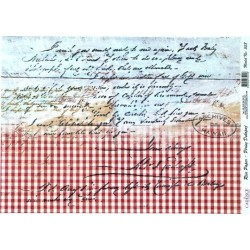Rýžový papír A3 Červená kostka, písmo