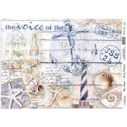 Rýžový papír A3 Kotva, mořské motivy