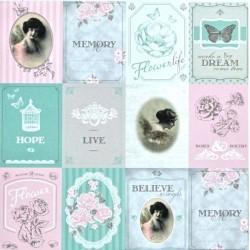 Vintage kartičky 30,5x30,5 Vivi Gade Design scrapbook