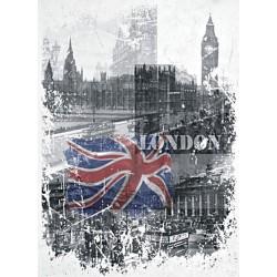 Papír rýžový A4 London, vlajka