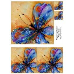 Papír soft A4 Modrý motýl