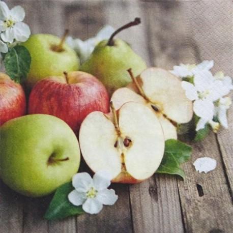 Jablíčka a hruška 33x33