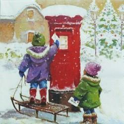 Děti a vánoční dopis 33x33