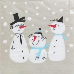 Tři sněhuláci 33x33