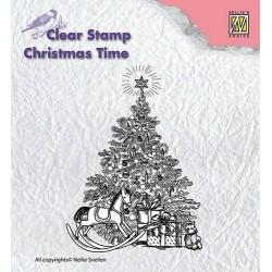 Transp.razítko Vánoční strom s dárky (Nellie´s Choice)