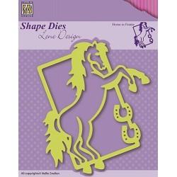 Vyřezávací šablona - kůň v rámečku Shape Dies