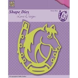 Vyřezávací šablona - podkova Shape Dies