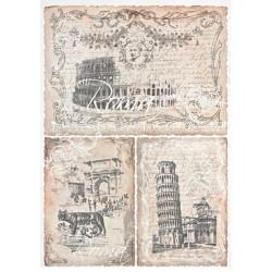 Papír rýžový A4 Roma, tři motivy