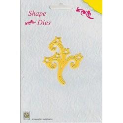 Vyřezávací šablona - větvička s hvězdami Shape Dies