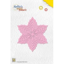 Vyřezávací šablona - vánoční hvězda 6ks Nellie´s Multi Frame´s