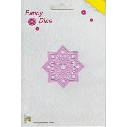 Vyřezávací šablona - hvězda Fancy Dies