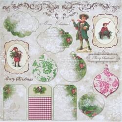 Vánoční přání, splněný sen 30,5x30,5 scrapbook