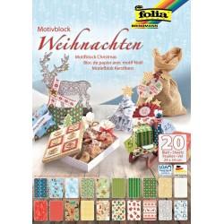 Blok vzorovaných papírů 20 listů - Weihnachten
