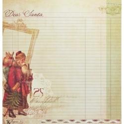 Dear Santa, oboustranný 30,5x30,5cm