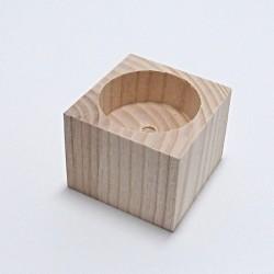 Dřevěný svícen hranatý č.0 - mini