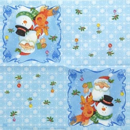 Santa, sněhulák a sob 33x33