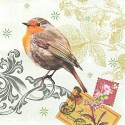 Ptáček a ornament 33x33