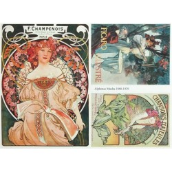 Papír soft A4 Alfons Mucha tři obrázky
