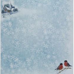 Zimní s ptáčky - scrap.papír 315x32,5 200g