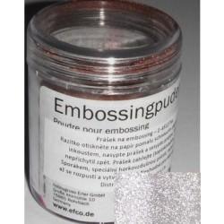 Prášek na embossing 10g supertřpytivý bílo-stříbrný