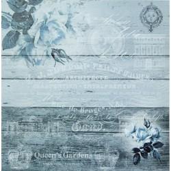 Růže domodra - scrap.papír 31,5x32,5 200g