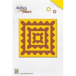Vyřezávací šablony - ozdobné čtverce Nellie´s Multi Frame´s