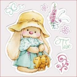 Transp.razítka - Bunny a klobouk