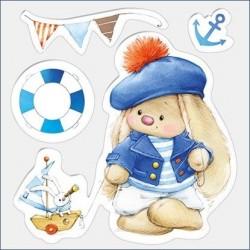 Transp.razítka - Bunny námořník