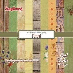 Sada papírů Forest 15x15