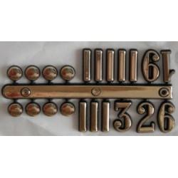 Číslice, puntíky - nalepovací, zlaté (1,7cm)