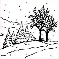 Embossovací kapsa - Zasněžené stromy (Nellie´s Choice)
