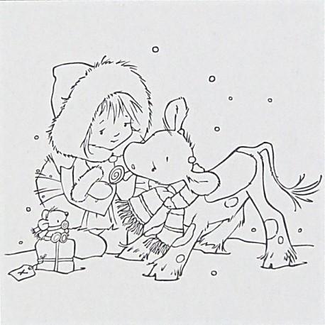 Embossovací kapsa - Děvčátko a telátko (Nellie´s Choice)