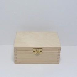 Krabička obdélníková malá se zámečkem