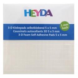 3D čtverečky samolepicí 5x5x1mm (HEYDA)