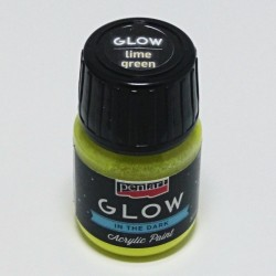 GLOW limetková 30ml - barva svítící ve tmě